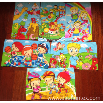 "100% cotton velvet printing face towel 11""x20"""